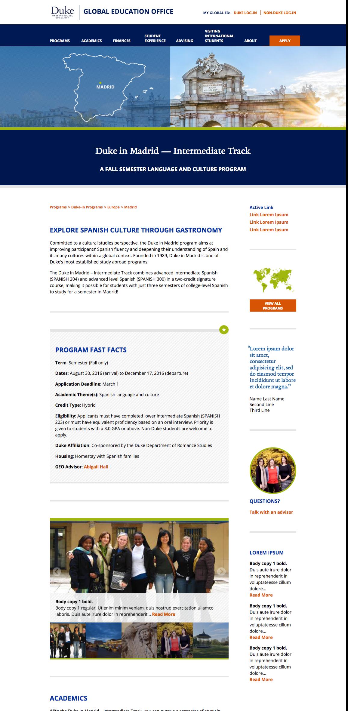 Duke - Global Education Office